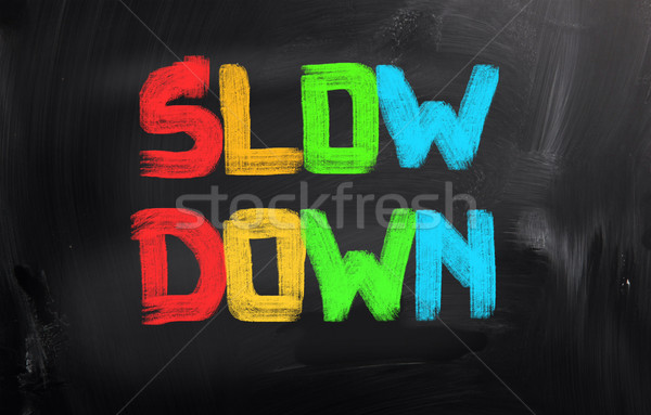 Slow Down Concept Stock photo © KrasimiraNevenova