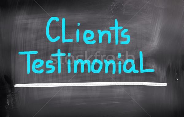 Clients Testimonial Concept Stock photo © KrasimiraNevenova