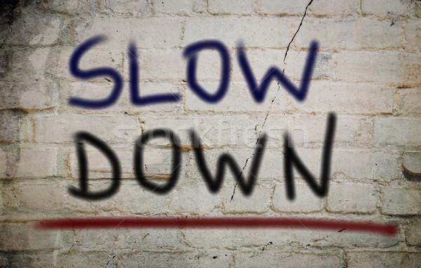 замедлять вниз автомобилей прав связи движения Сток-фото © KrasimiraNevenova