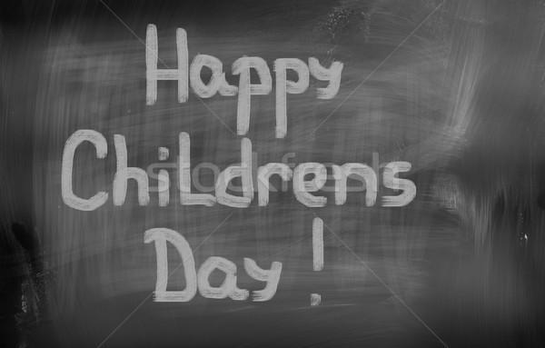 Happy Childrens Day Concept Stock photo © KrasimiraNevenova