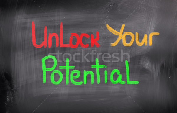 Unlock Your Potential Concept Stock photo © KrasimiraNevenova