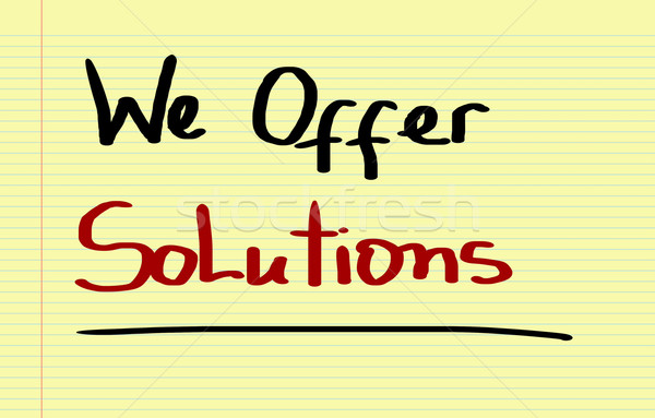 Oferecer soluções negócio educação comunicação poder Foto stock © KrasimiraNevenova