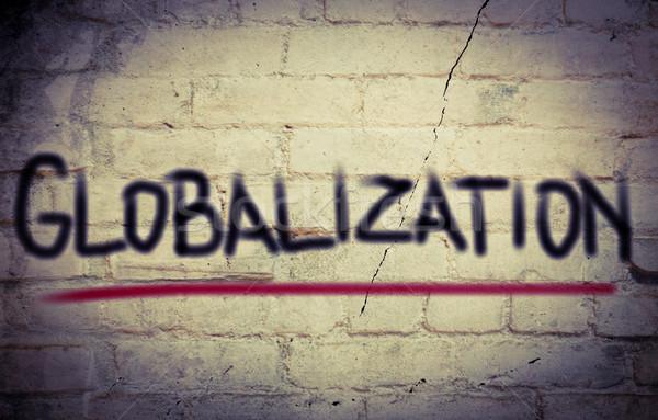 Stockfoto: Globalisering · gebouw · wereld · groep · team · corporate