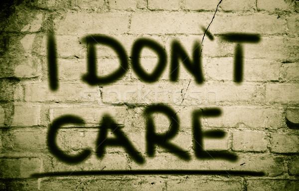 I Don't Care Concept Stock photo © KrasimiraNevenova