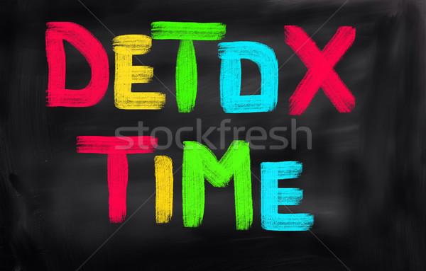 Detox Time Concept Stock photo © KrasimiraNevenova