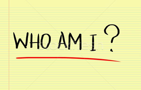Who Am I Concept Stock photo © KrasimiraNevenova