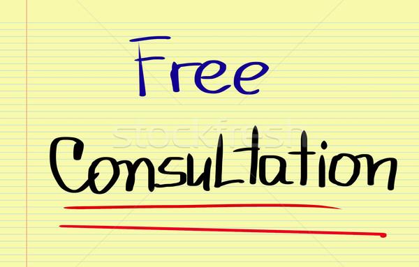 Libero consultazione business tecnologia istruzione contatto Foto d'archivio © KrasimiraNevenova