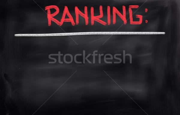 Ranking schriftlich Zeit Service Test Qualität Stock foto © KrasimiraNevenova