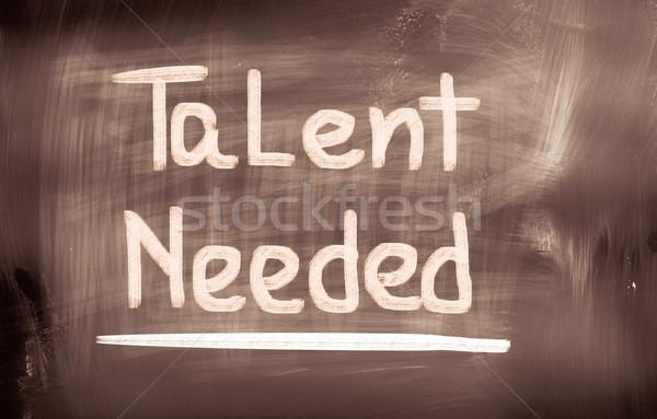 Talent corporate baas interview afrikaanse teamwerk Stockfoto © KrasimiraNevenova