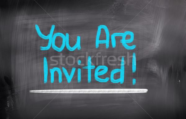 You Are Invited Concept Stock photo © KrasimiraNevenova