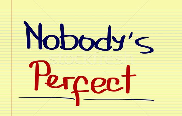 Nobody's Perfect Concept Stock photo © KrasimiraNevenova