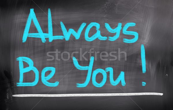 állandóan szeretet absztrakt felirat siker gondolkodik Stock fotó © KrasimiraNevenova