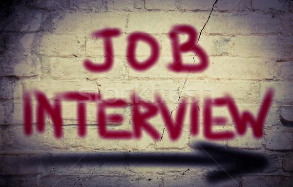 Entrevista de emprego reunião trabalho informação entrevista conceito Foto stock © KrasimiraNevenova