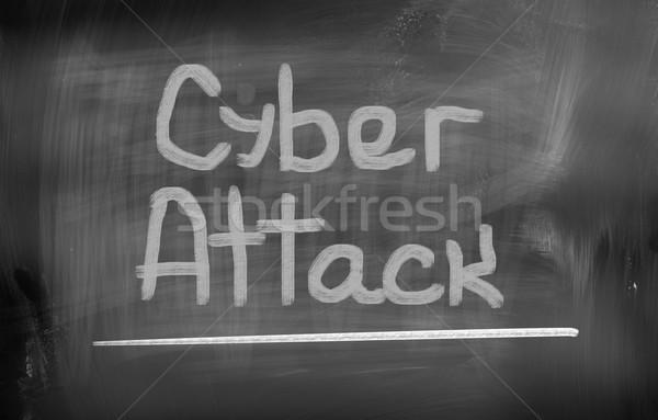 Támadás internet biztonság digitális bűnözés biztonság Stock fotó © KrasimiraNevenova