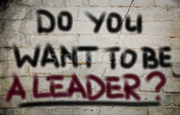 Do You Want To Be A Leader Concept Stock photo © KrasimiraNevenova