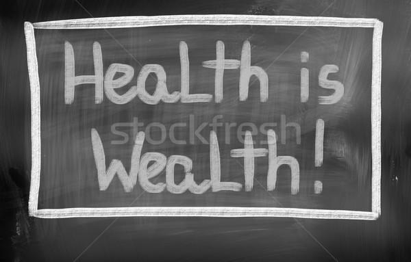 Zdrowia bogactwo działalności ceny muzyka finansów Zdjęcia stock © KrasimiraNevenova