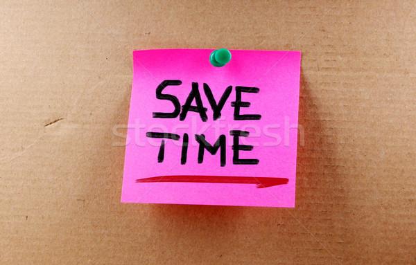Salvar tempo chave apresentar gestão pare Foto stock © KrasimiraNevenova