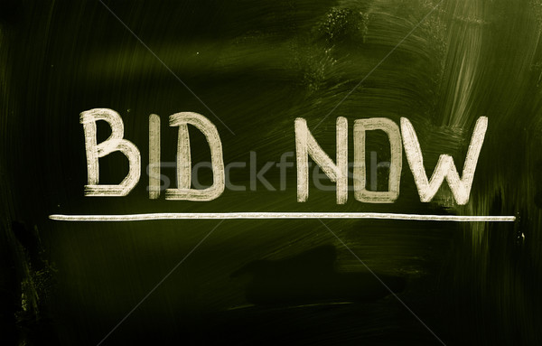Bid Now Concept Stock photo © KrasimiraNevenova