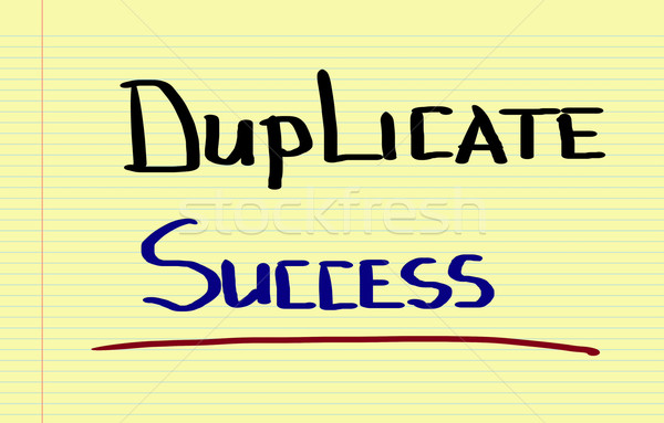 Duplicate Success Concept Stock photo © KrasimiraNevenova