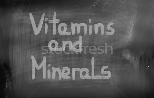 Vitamins Concept Stock photo © KrasimiraNevenova