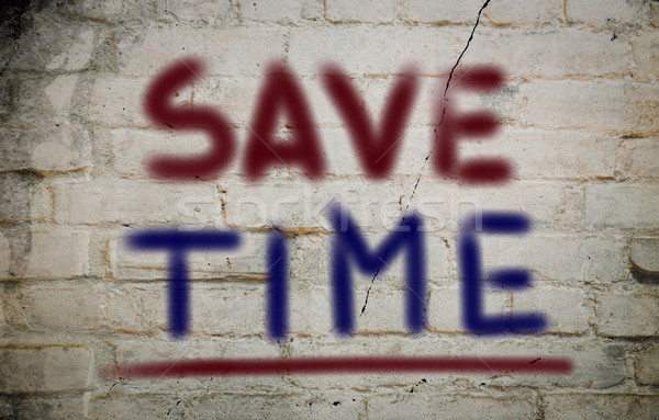 Salvar tempo chave apresentar gestão conceito Foto stock © KrasimiraNevenova