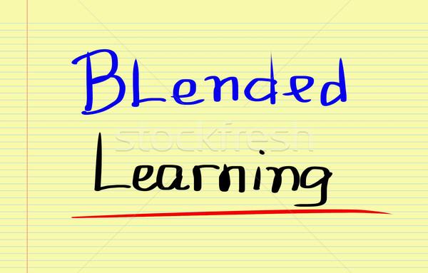 Blended Learning Concept Stock photo © KrasimiraNevenova