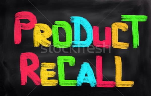Product Recall Concept Stock photo © KrasimiraNevenova