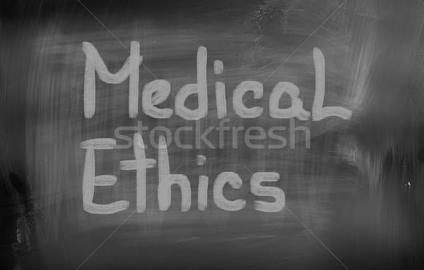 Medische ethiek business arts gelukkig gezondheid Stockfoto © KrasimiraNevenova