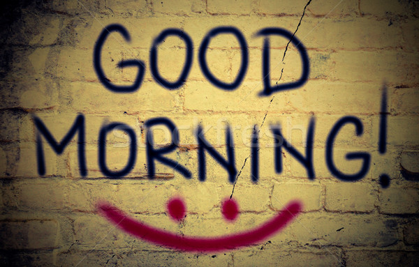 Bom dia amor escrita comunicação fresco doce Foto stock © KrasimiraNevenova