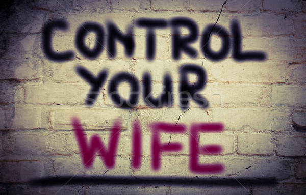 Control Your Wife Concept Stock photo © KrasimiraNevenova