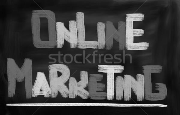 Интернет маркетинг знак веб рынке СМИ написать Сток-фото © KrasimiraNevenova