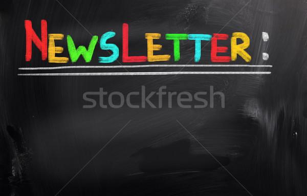 Bulletin internet signe contact lettre informations Photo stock © KrasimiraNevenova