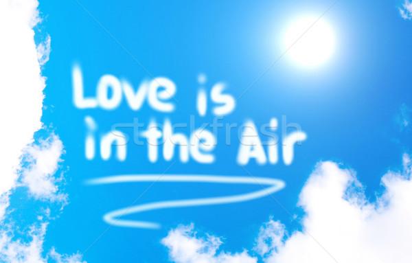 Szeretet levegő égbolt terv művészet jókedv Stock fotó © KrasimiraNevenova