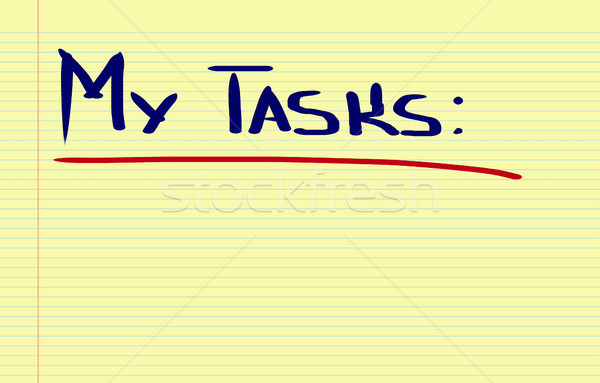 Enyém feladatok munka siker cél vezetőség Stock fotó © KrasimiraNevenova