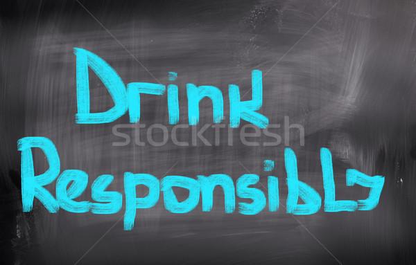 Drinken gezondheid teken recht drinken veiligheid Stockfoto © KrasimiraNevenova