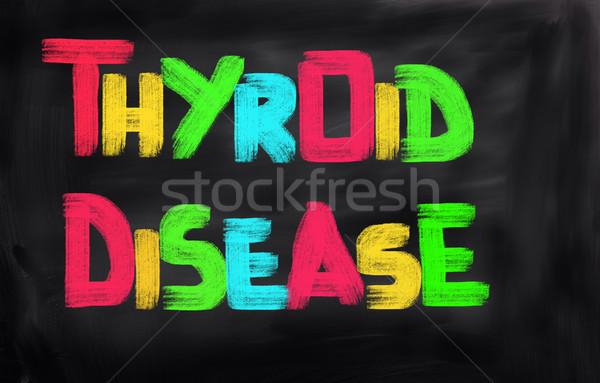 Ziekte ziek koud virus gezondheidszorg volwassen Stockfoto © KrasimiraNevenova