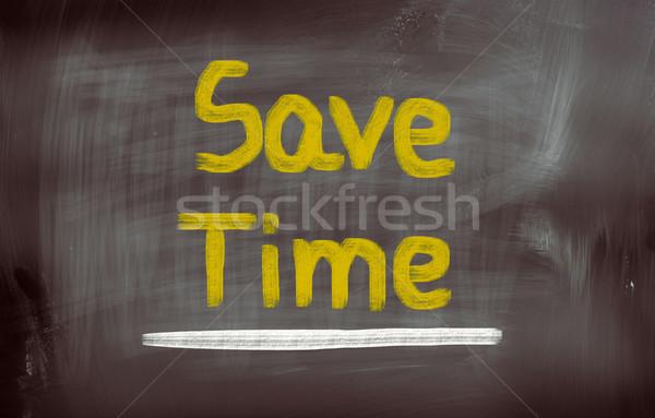 Salvare tempo chiave presenti gestione stop Foto d'archivio © KrasimiraNevenova