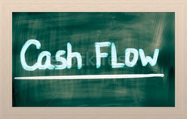 Cashflow geld bedrijf cash evenwicht boekhouding Stockfoto © KrasimiraNevenova