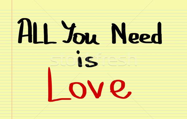 összes szükség szeretet háttér felirat piros Stock fotó © KrasimiraNevenova