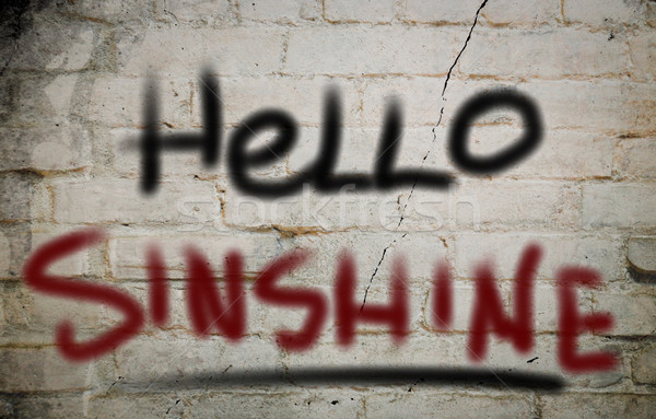 Hello Sunshine Concept Stock photo © KrasimiraNevenova