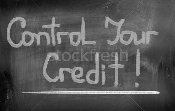 Control crédito educación tiempo Screen trabajador Foto stock © KrasimiraNevenova
