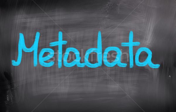 Metadata Concept Stock photo © KrasimiraNevenova