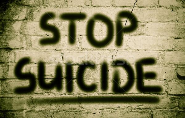 остановки самоубийства мертвых насилия опасность депрессия Сток-фото © KrasimiraNevenova