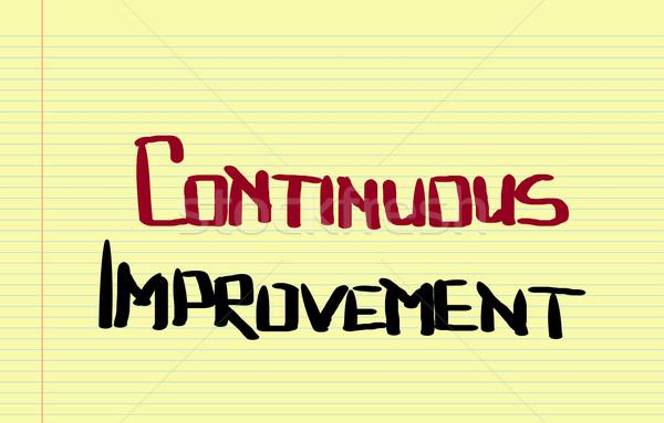 Continuous Improvement Concept Stock photo © KrasimiraNevenova