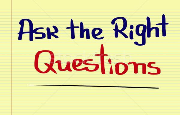 Perguntar direito perguntas nota conselho entrevista Foto stock © KrasimiraNevenova