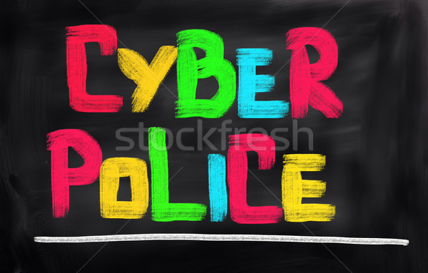 Cyber Police Concept Stock photo © KrasimiraNevenova