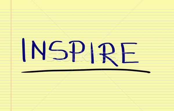 Ispirare help successo nota può concetto Foto d'archivio © KrasimiraNevenova