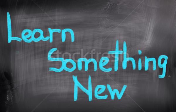 узнать что-то новых фон образование Дать Сток-фото © KrasimiraNevenova