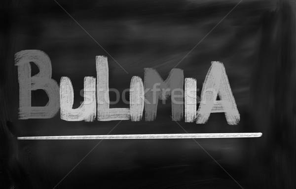 Bulimia tıp yeme tedavi hastalık hasta Stok fotoğraf © KrasimiraNevenova