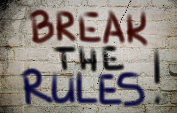 Break The Rules Concept Stock photo © KrasimiraNevenova